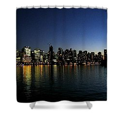 Vancouver Skyline Shower Curtain by Will Borden