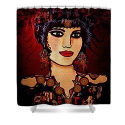 Vanessa Shower Curtain by Natalie Holland