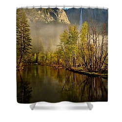 Vanishing Mist Shower Curtain by Duncan Selby
