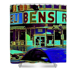 Vanishing Montreal Memories Ben's Historical Restaurant Window So Many Stories To Tell Shower Curtain by Carole Spandau