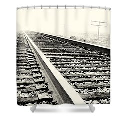 Vanishing Point Shower Curtain by Caitlyn  Grasso