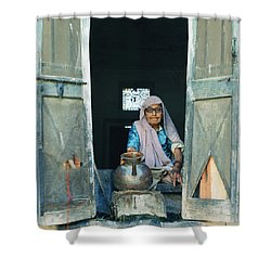 Varanasi Water Seller Shower Curtain