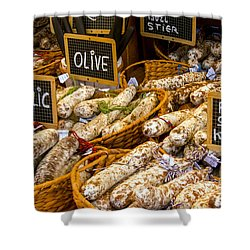 Variety Of Flavors Shower Curtain by Bob Phillips
