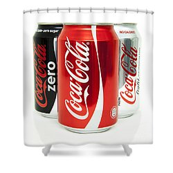 Various Coke Cola Cans Shower Curtain