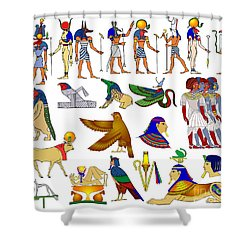 Various Themes Of Ancient Egypt Shower Curtain by Michal Boubin