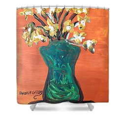 Vase Shower Curtain