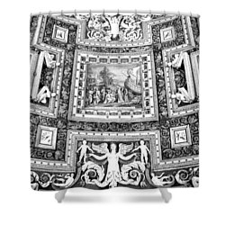 Vatican Museum Gallery Of Maps Black And White Shower Curtain