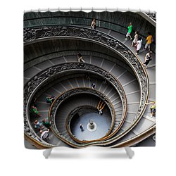Vatican Spiral Staircase Shower Curtain by Inge Johnsson