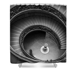 Vatican Stairs Shower Curtain by Adam Romanowicz