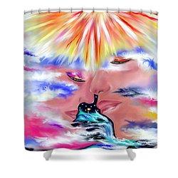 Eternal Love Shower Curtain by Lori  Lovetere