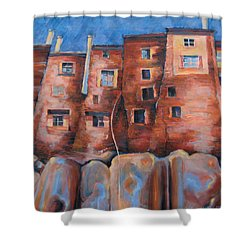 Vedette Facce Italy Shower Curtain