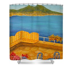 Veduta Di Vesuvio Shower Curtain by Pamela Allegretto
