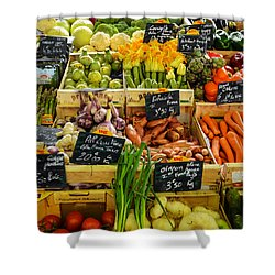 Veg At Marche Provencal Shower Curtain by Allen Sheffield