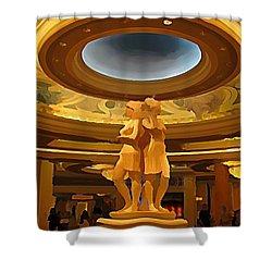 Vegas Hotel Interior Shower Curtain by John Malone