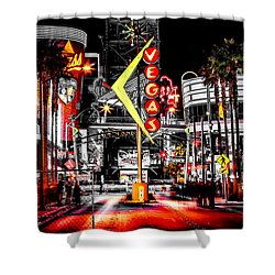 Vegas Nights Shower Curtain by Az Jackson