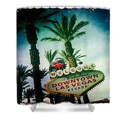 Vegas Shower Curtain by Nina Prommer