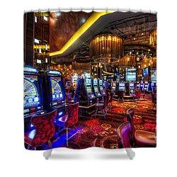 Vegas Slot Machines Shower Curtain by Yhun Suarez