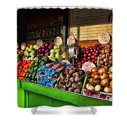 Greenwich Village Market Shower Curtain