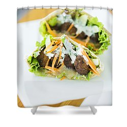 Vegetarian Falafel In Pita Bread Sandwich Shower Curtain