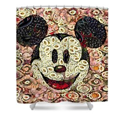 Veggie Mickey Mouse Shower Curtain by Paulette B Wright