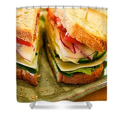 Veggie Sandwich Shower Curtain