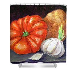 Veggie Trio Shower Curtain