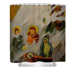 Veiled Shower Curtain by Jukka Nopsanen