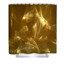 Veils Of Light Shower Curtain by Leena Pekkalainen