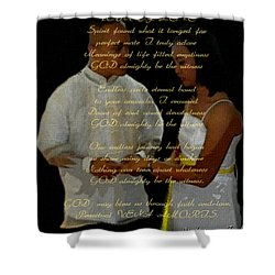 Vein Of Love Poem Shower Curtain