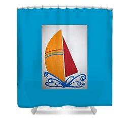 Velas Shower Curtain