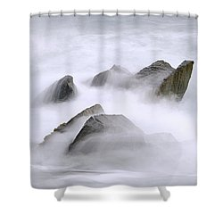 Velvet Surf Shower Curtain by Marty Saccone
