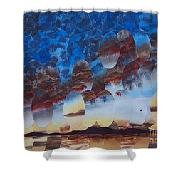 Velvet Virga Shower Curtain by Jeni Bate