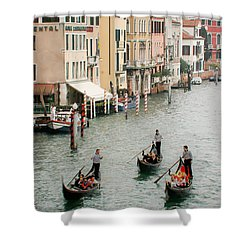 Shower Curtain featuring the photograph Venice by Silvia Bruno