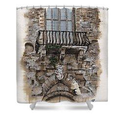 Venetian Balcony 02 Elena Yakubovich Shower Curtain by Elena Yakubovich