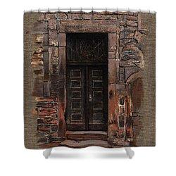 Shower Curtain featuring the painting Venetian Door 02 Elena Yakubovich by Elena Yakubovich