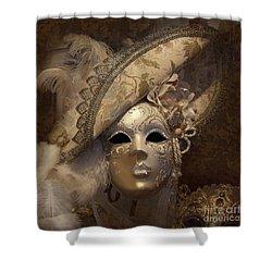 Venetian Face Mask F Shower Curtain