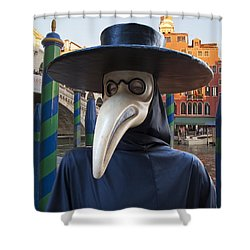 Venetian Face Mask G Shower Curtain by Heiko Koehrer-Wagner