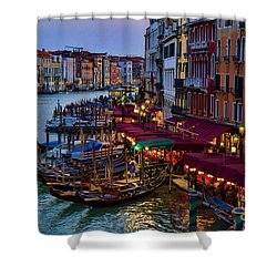 Venetian Grand Canal At Dusk Shower Curtain