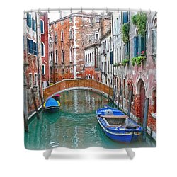 Shower Curtain featuring the photograph Venetian Idyll by Hanny Heim