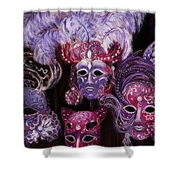 Venetian Masks Shower Curtain by Anastasiya Malakhova