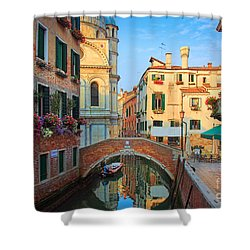 Venetian Paradise Shower Curtain by Inge Johnsson