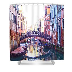 Venetian Reflections Shower Curtain
