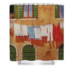 Venetian Washday Shower Curtain by Mary Ellen Mueller Legault