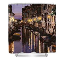Venezia Al Crepuscolo Shower Curtain by Guido Borelli