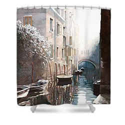 Venezia Sotto La Neve Shower Curtain by Guido Borelli