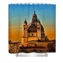 Venezia-basilica Of Santa Maria Della Salute Shower Curtain