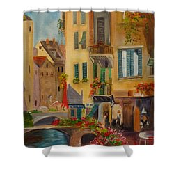 Venic Canal 1 Shower Curtain by Jenny Lee