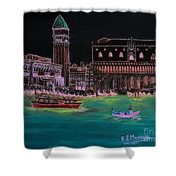 Venice At Night Shower Curtain by Loredana Messina