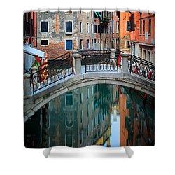 Venice Bridge Shower Curtain by Inge Johnsson