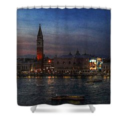 Shower Curtain featuring the photograph Venice By Night by Hanny Heim